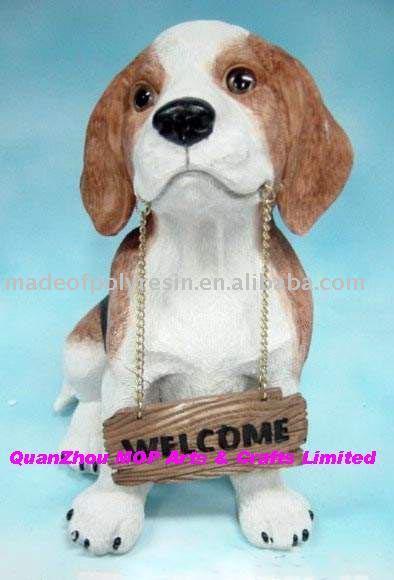polyresin/resin/polystone garden dog crafts