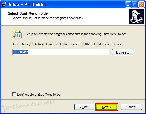 pe builder 설치과정