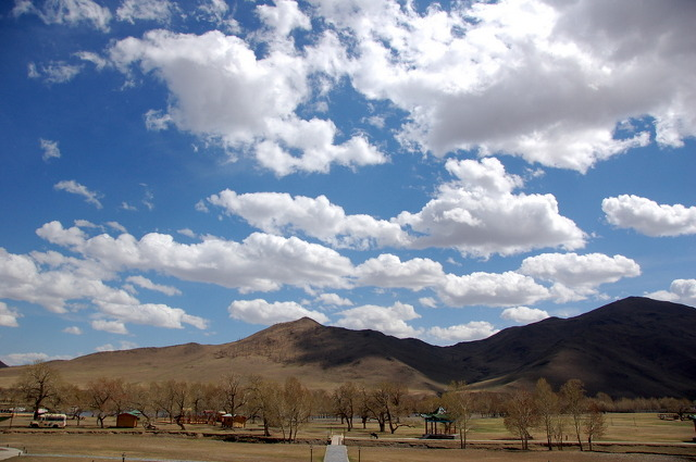 The sky in Mongolia