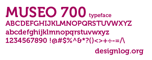 디자인 폰트 - Museo Sans