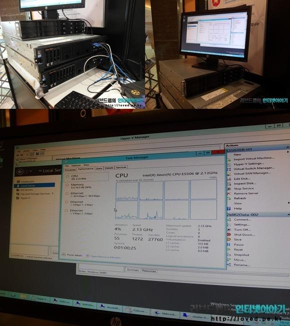 윈도우 서버 2012 실제 구동 모습