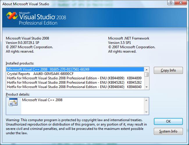 Visual Studio 2008 LogoVisual Studio 2008 Logo