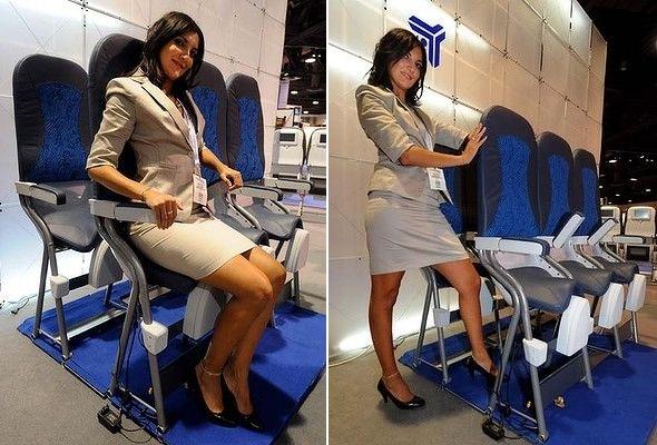 항공 박람회에 등장했던 반 입석 좌석