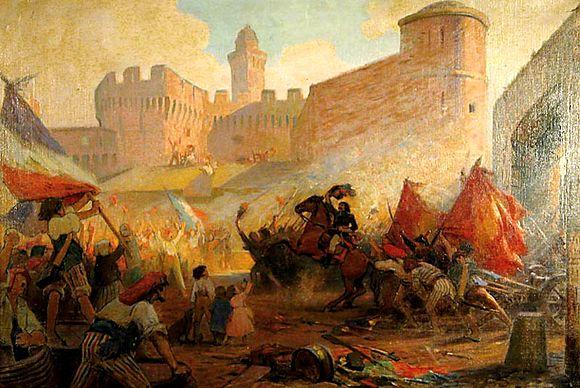 이미지 출처: http://commons.wikimedia.org/wiki/File:H_P_Perrault_Prise_de_la_Bastille_(painted_1928).jpg