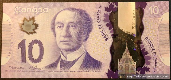 화폐로 알아보는 캐나다 역사 문화 10달러 지폐