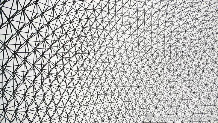 돔 형태의 강철 구조 입니다