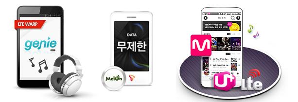 통신사별 음원사이트 제휴 요금제&부가서비스