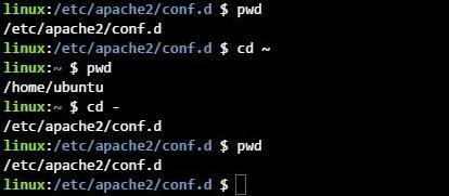 리눅스 cd 이전 디렉토리로 이동하기