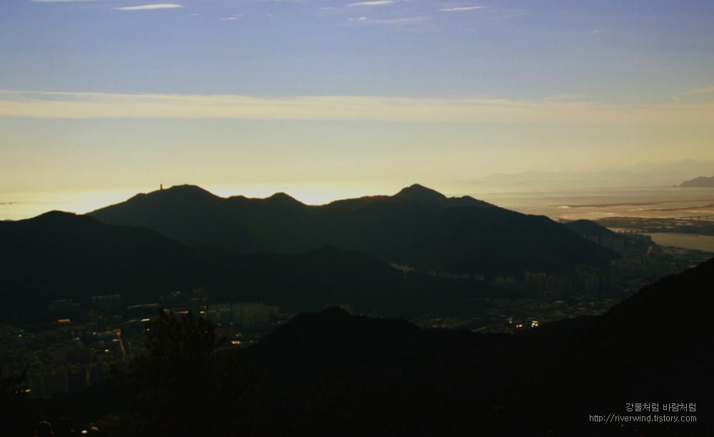 백양산에 보는 하늘풍경