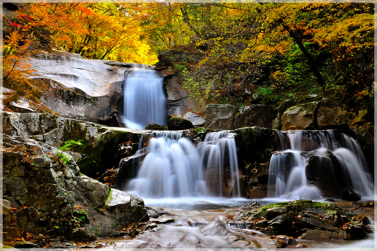 2013년 방태산 이단폭포의 가을