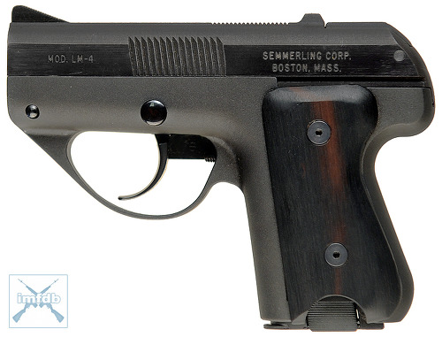 Semmerling LM-4 단발 권총(Manual-Repeating Pistol) : United States