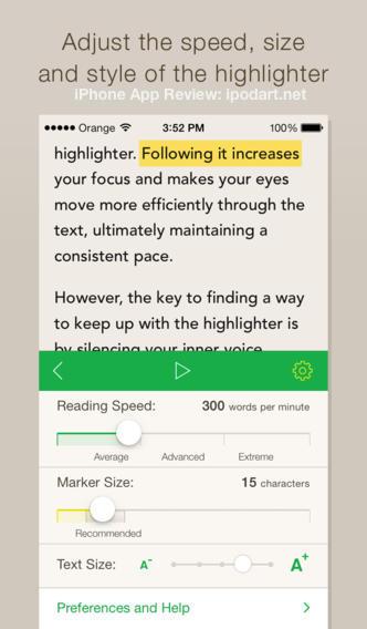 Outread – Speed Reading 아이폰 아이패드 문서 전자책 읽기