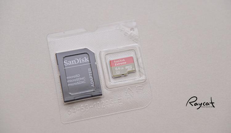 샌디스크 익스트림 64GB, SD 어댑터와 메모리