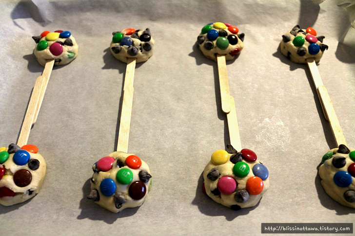 m&m 막대 쿠키 만들기