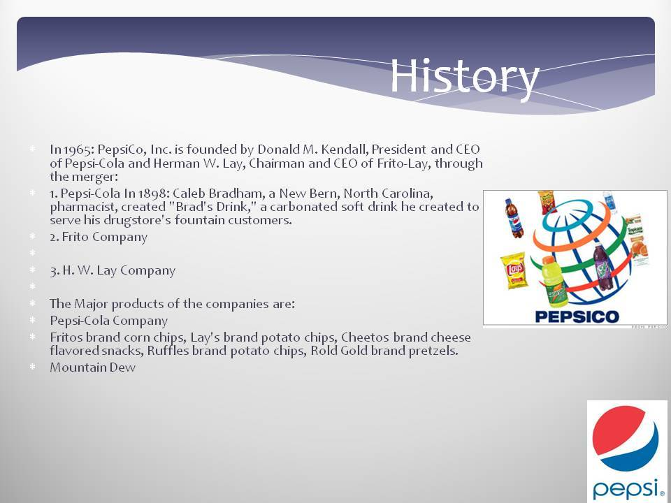 the corporate history of pepsi company founded by donald m kendall