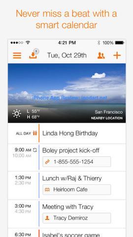 Tempo Smart Calendar 아이폰 추천 베스트 앱 2013
