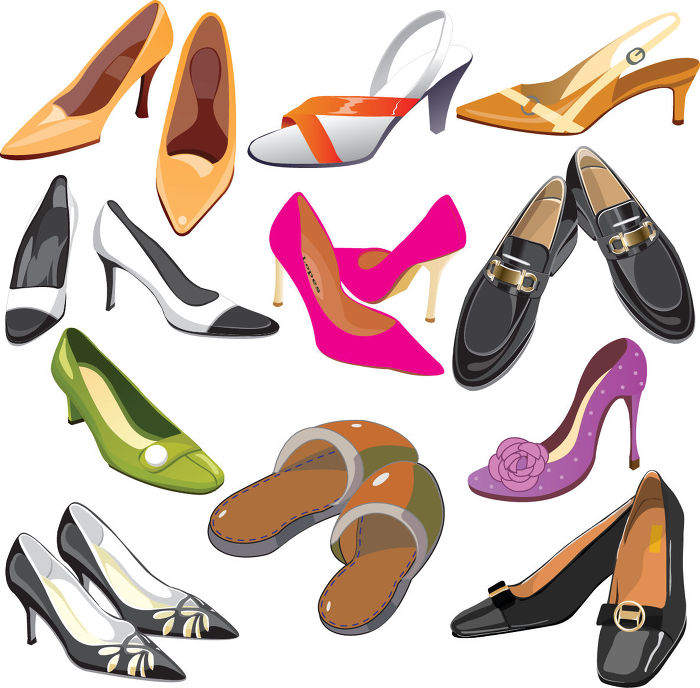 Lady With Lots Of Shoes