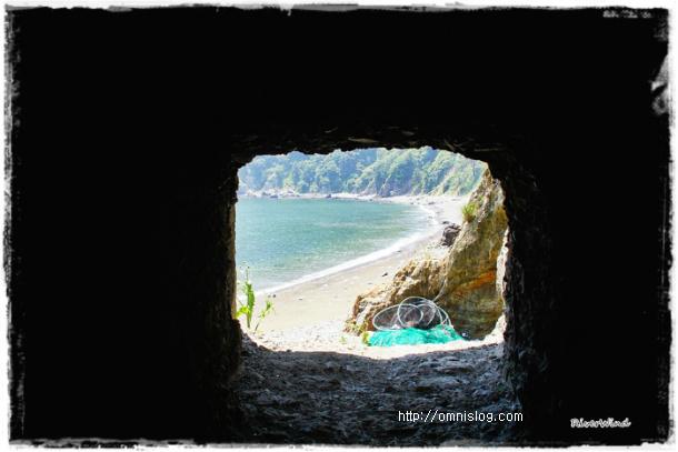 새바지 인공동굴 에서 보는 풍경