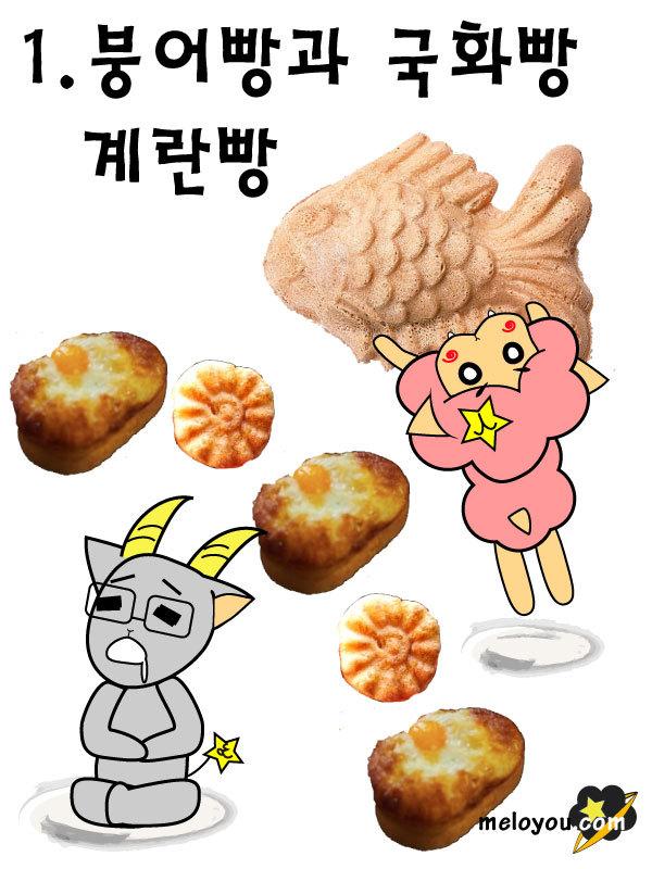 붕어빵, 국화빵, 계란빵