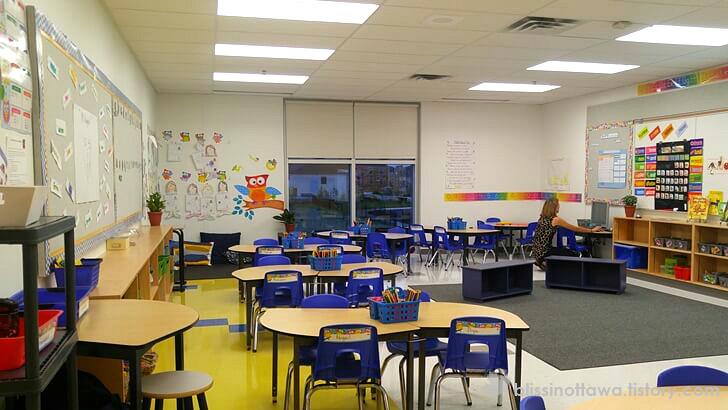 학교 교실 환경