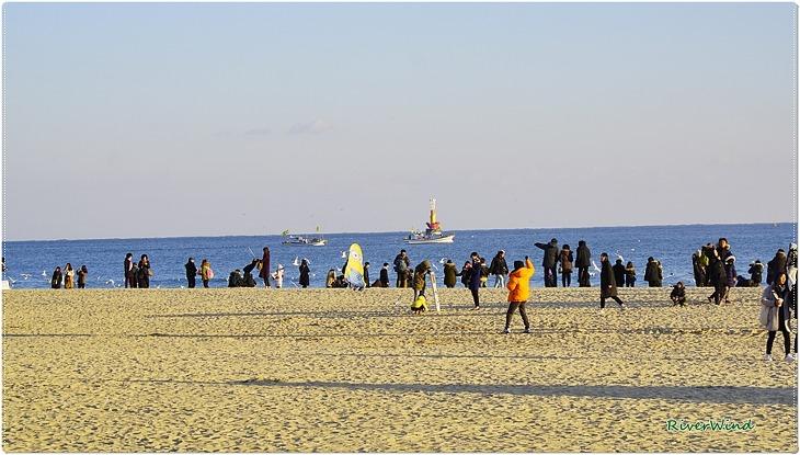 해운대의 봄 바다