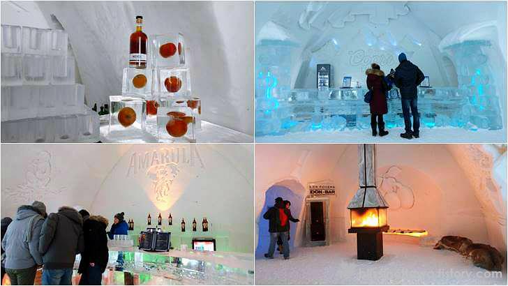 얼음으로 만든 술집 입니다