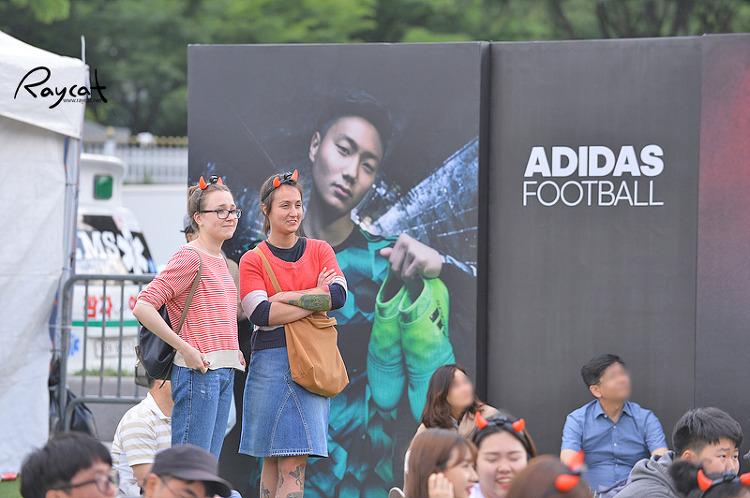거리응원 외국인