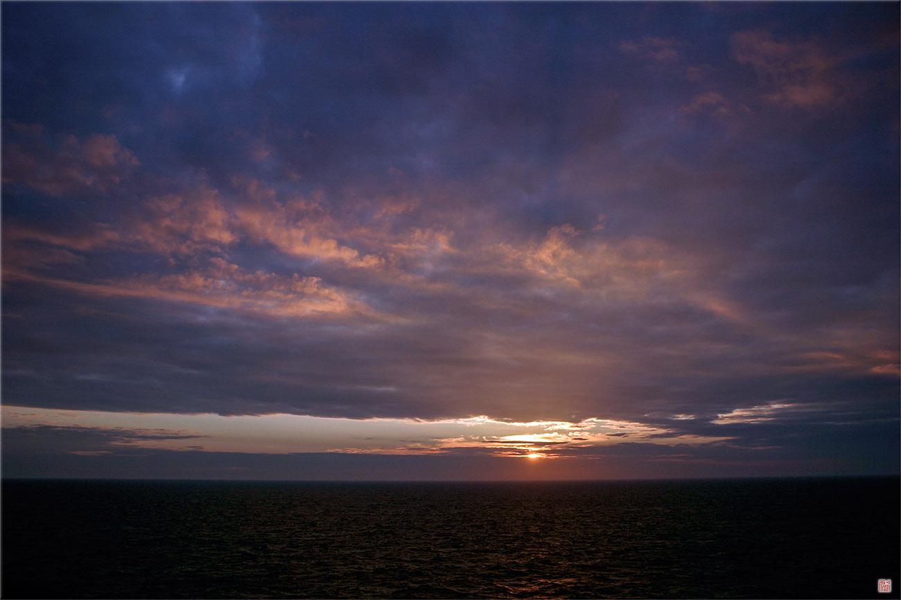 Sunset of Baltic Sea _ Silja-line