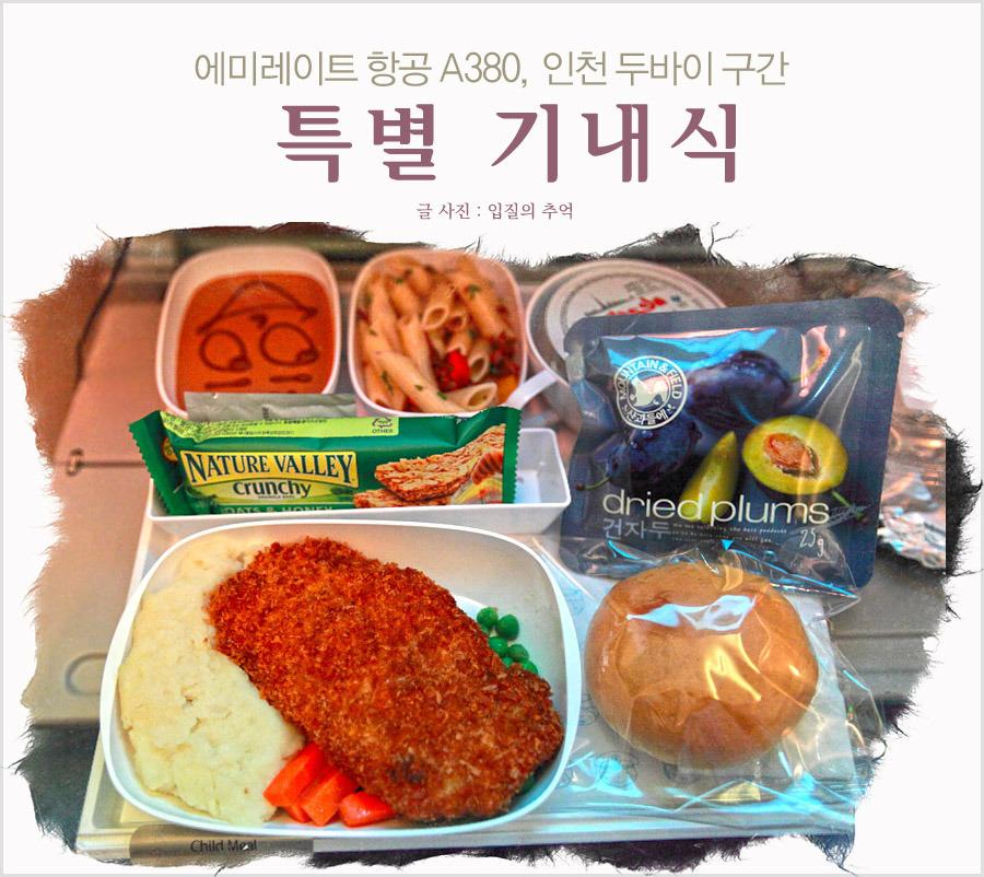 인천 두바이, 에미레이트 항공의 특별 기내식 이용 후기