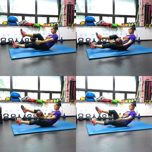 복근 만들기, 볼을 이용한 복근 운동 3가지(메디신볼 운동, 시청역 헬스)