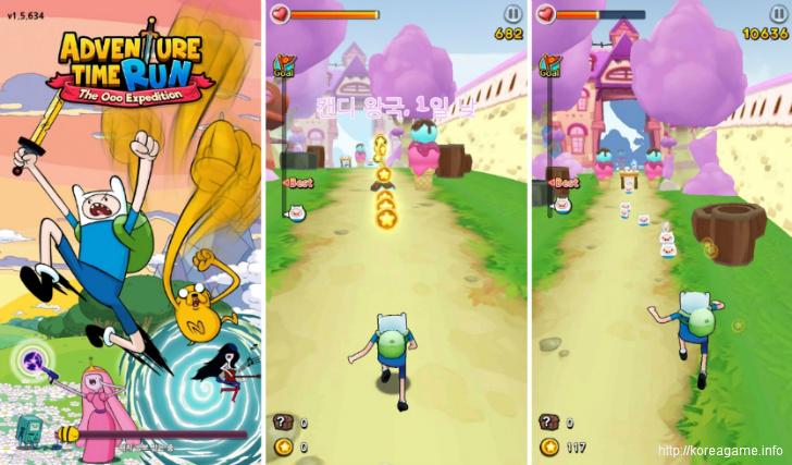 어드벤처타임 런:우 탐험대 Adventure Time Run Game