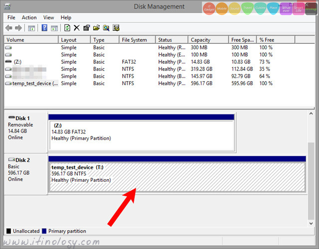Windows 8.1 HDD partition shrink and extend volume