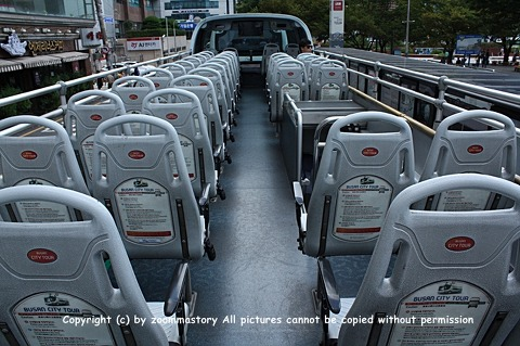 오픈된 시티투어 2층버스