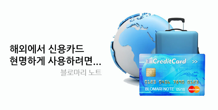 해외에서 신용카드 현명하게 사용하려면...