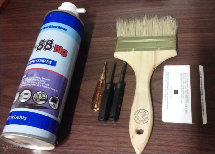 노트북 분해 및 좀 더 확실한 청소를 위해 준비물