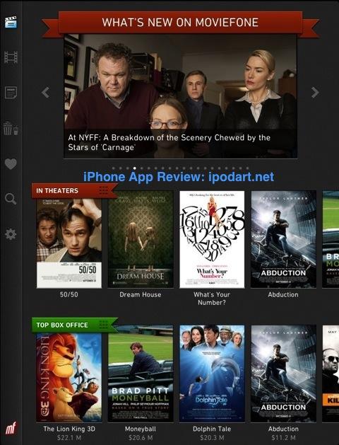 Moviefone Movies for iPad 아이패드 영화 예고편