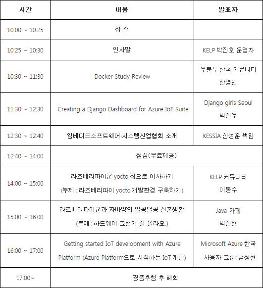 KELP 켈프 공개 세미나 개발자 커뮤니티 IoT 한국마이크로소프트
