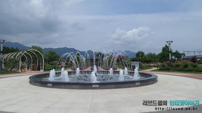 섬진강 기차마을 장미 공원