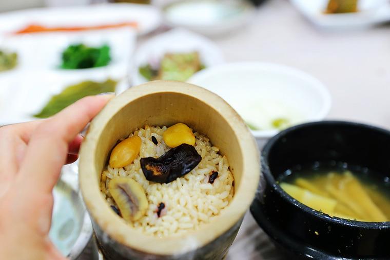 대통밥 대나무통밥 담양 대통밥 담양대나무밥