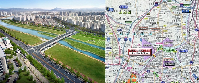 [출처:대전시]카이스트교 조감도 및 지도