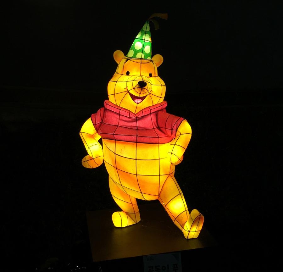 도봉 불축제 곰돌이 푸 등불