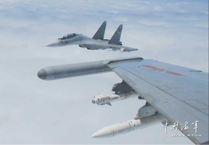'수호이-30' 중국전투기 , 동중국해 방공식별구역(CADIZ) 출격