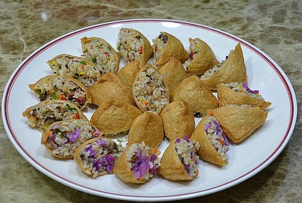 진달래 유부초밥/ 청양고추 유부초밥