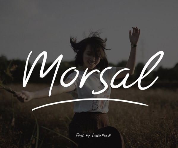 Morsal – Free Brush Font