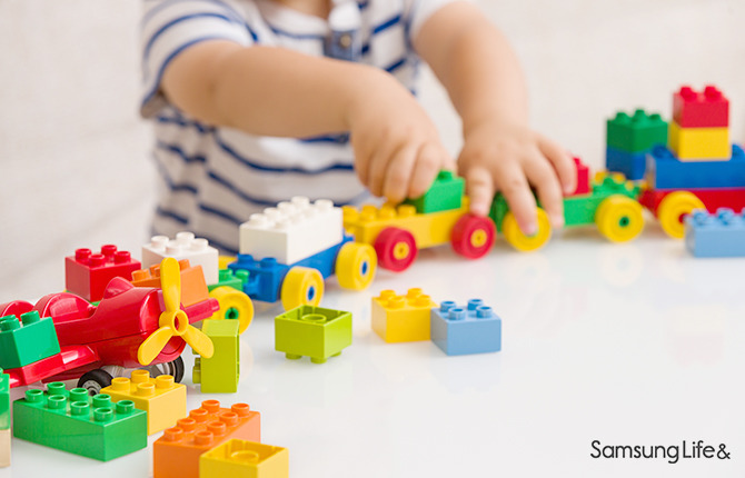 어린이 장난감 유아 블록 기차 만들기