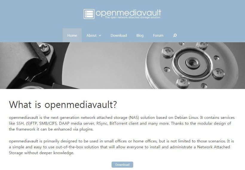 openmediavault 웹사이트 다운로드