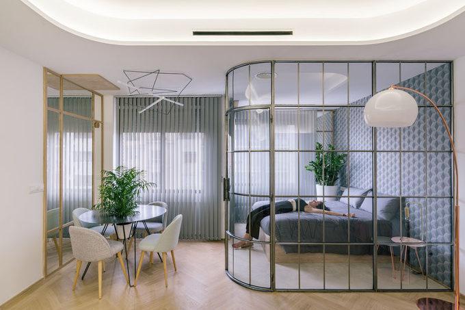 *유리파티션 Design Detail – Glass Enclosed Bedrooms And Bathrooms