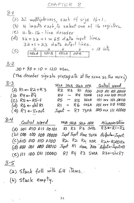 컴퓨터구조 연습문제, 모리스 마노 챕터8 51