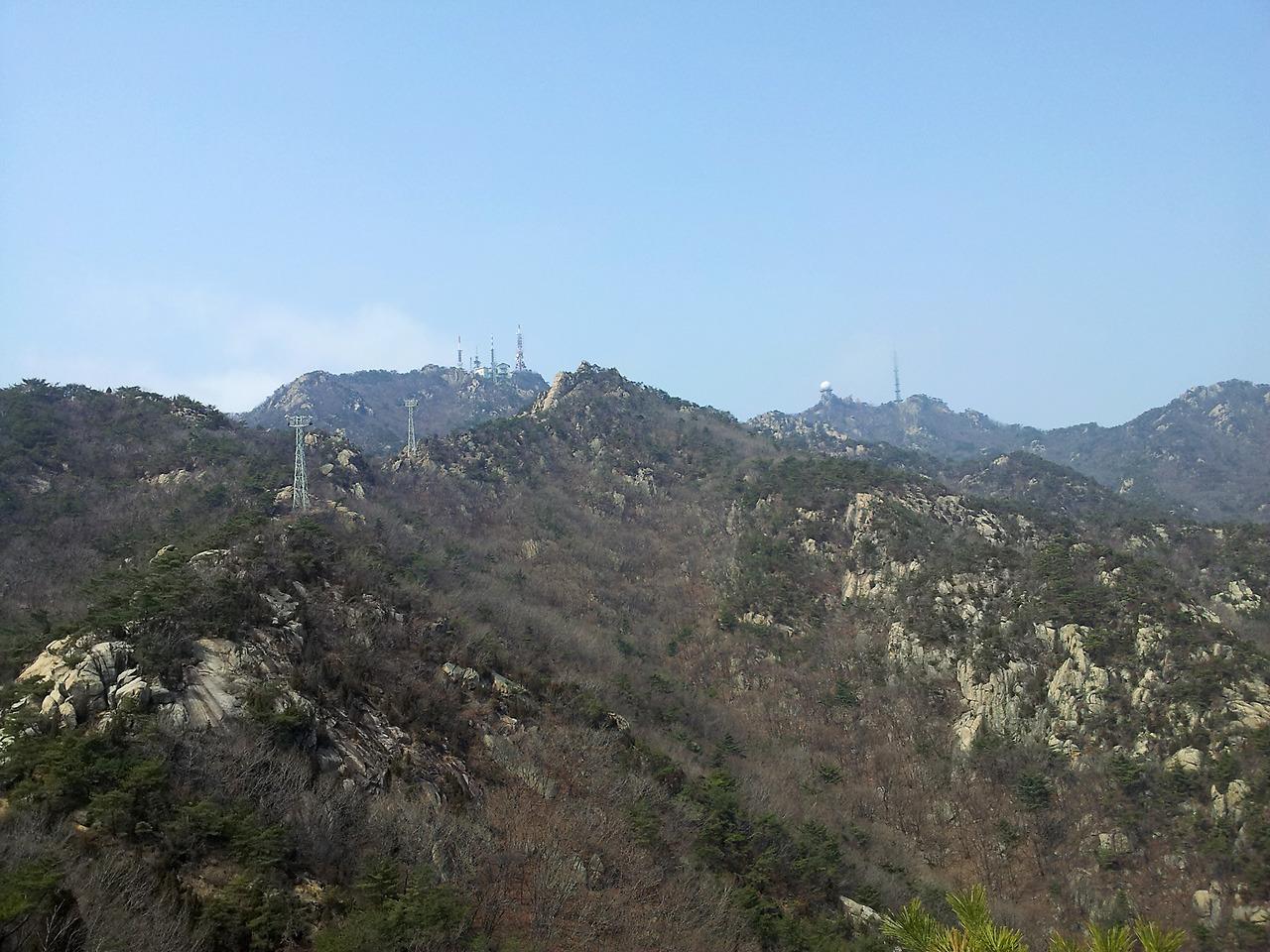 2012년3월 관악산 케이블카능선
