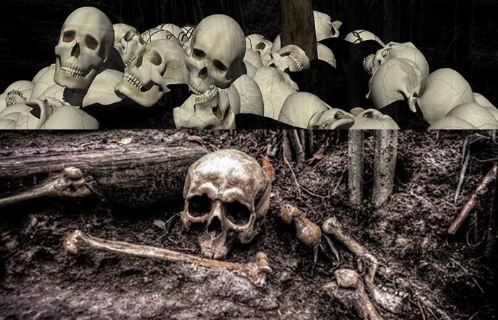 사진: 마산 여양리 학살사건은 160여 구가 넘는 유골과 실탄 자료 등이 발견되며 학살의 잔혹함을 다시 보여주었다. [마산 여양리 뼈무덤 발굴과 보도연맹 학살사건]
